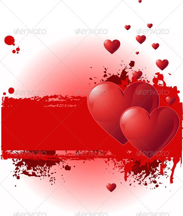 Valentine Grunge Banner - Valentines Seasons/Holidays