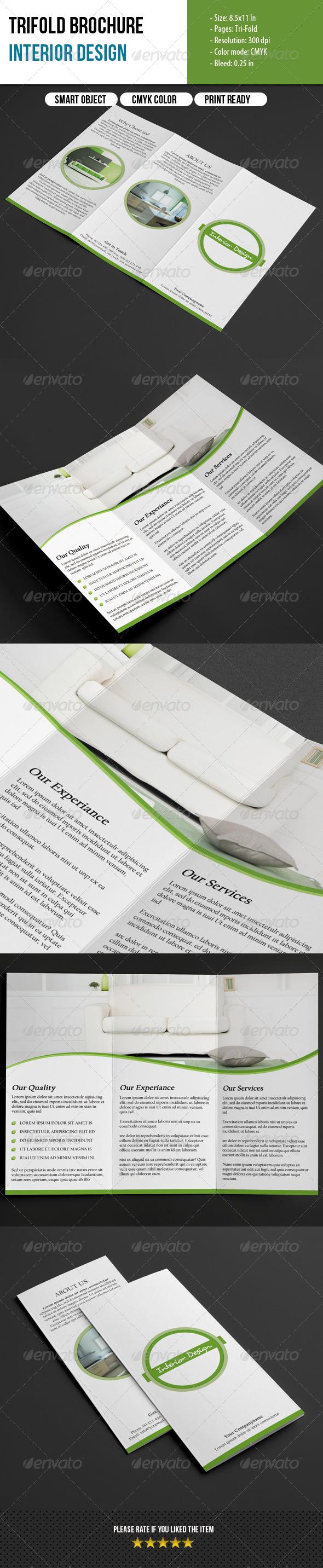Trifold Brochure-Interior Design - Corporate Brochures