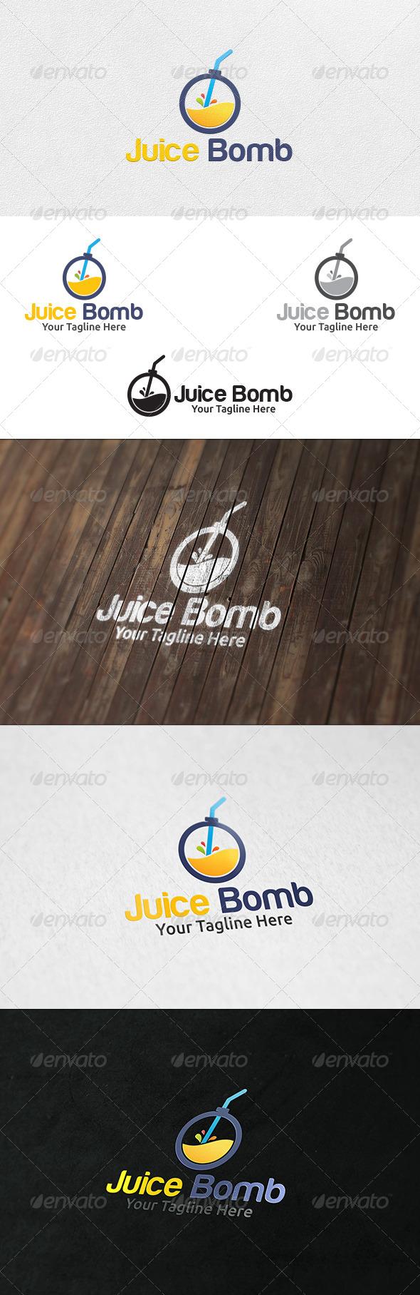 Juice Bomb - Logo Template - Symbols Logo Templates