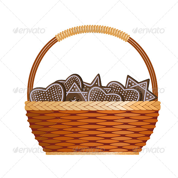 Basket with Ginger Cakes - Seasons/Holidays Conceptual