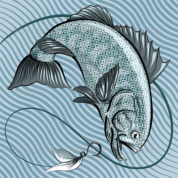 Grey Fish - Animals Characters