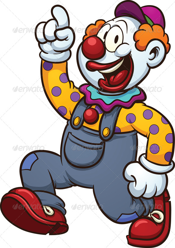 Cartoon Clown - People Characters