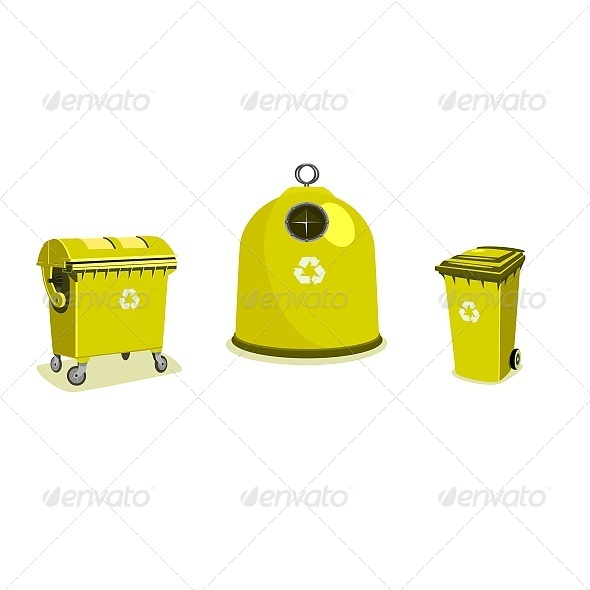Recycle Bins - Objects Vectors