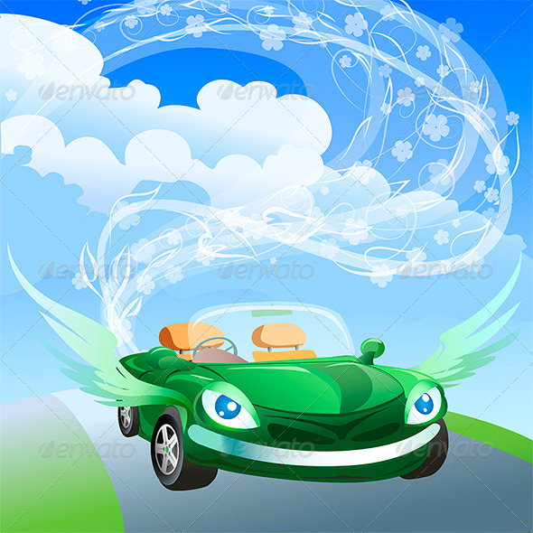 Environmentally Friendly Car - Vectors