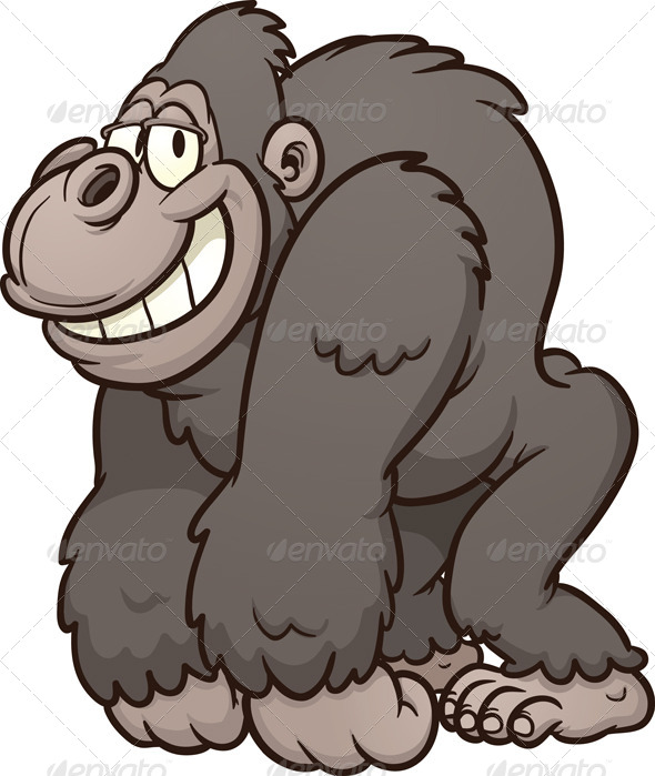 Cartoon Gorilla - Animals Characters