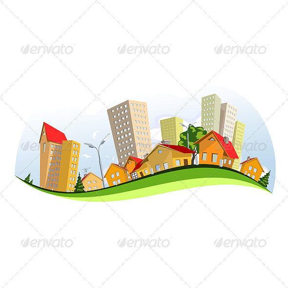 Colorful Vector City - Buildings Objects