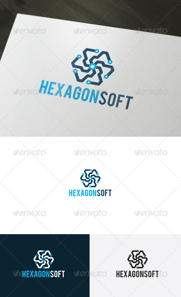 Hexagon Soft Logo - Logo Templates