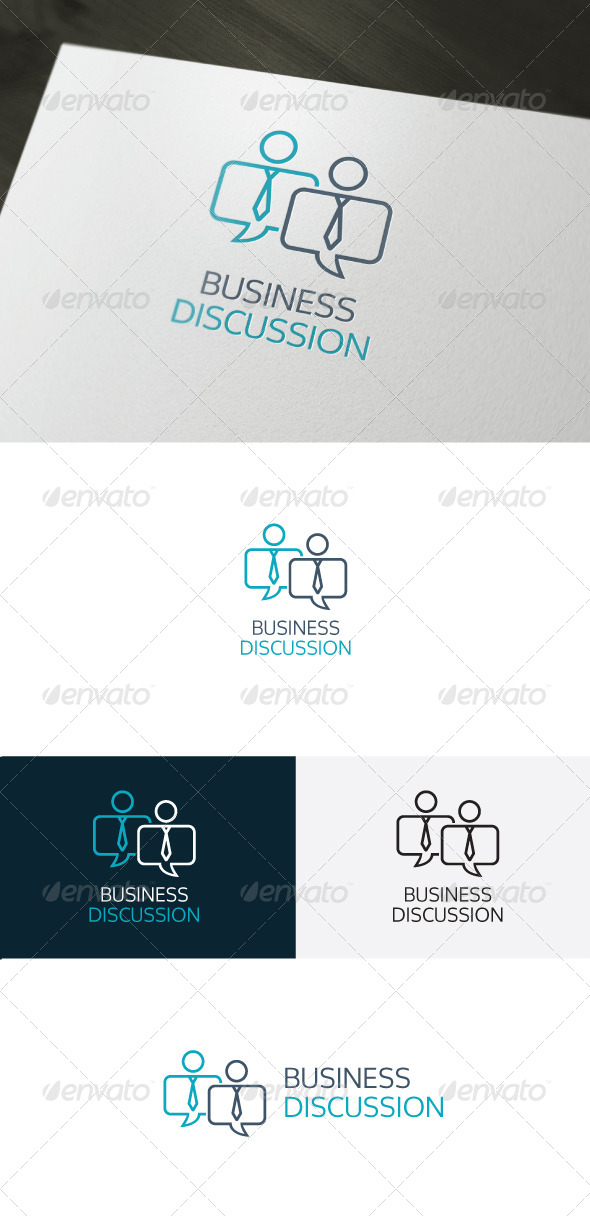Business Discussion Logo - Humans Logo Templates