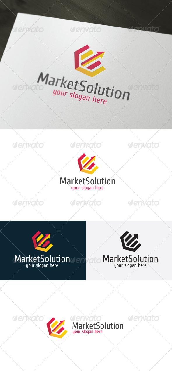 Market Solution Logo - Vector Abstract