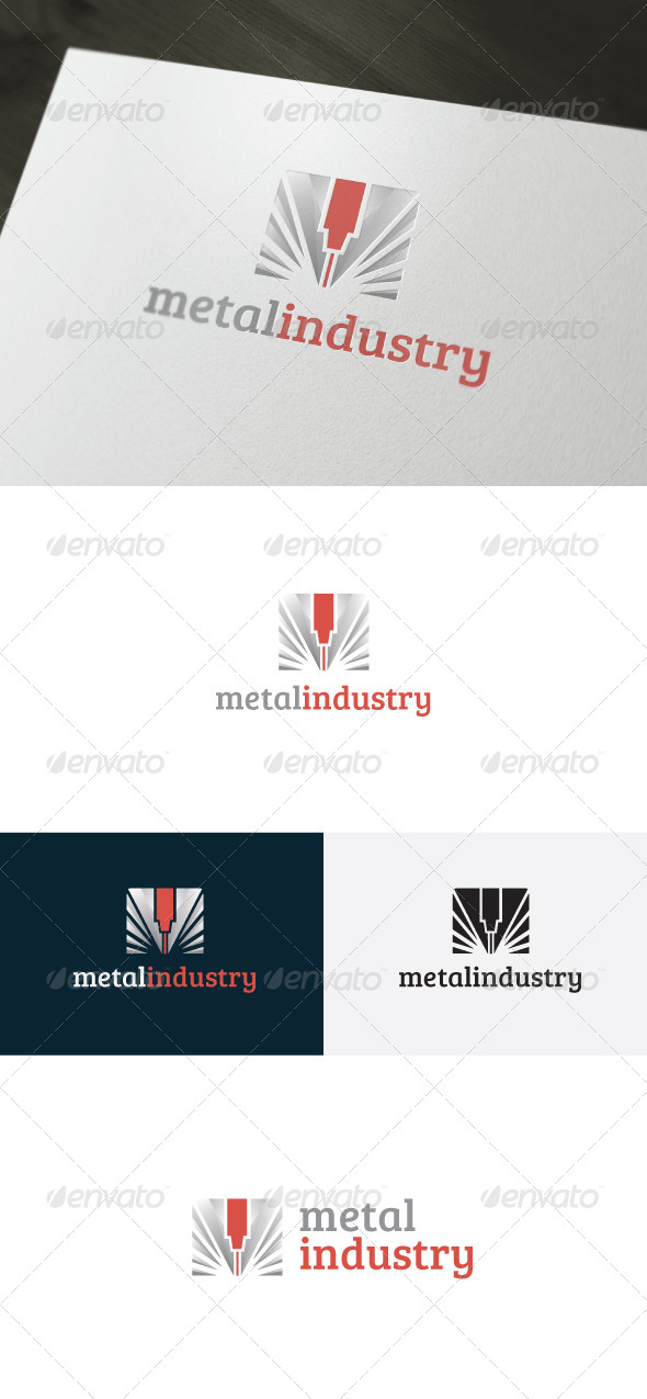 Metal Industry Logo - Vector Abstract