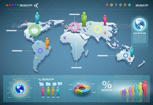 World Infographics - Miscellaneous Vectors