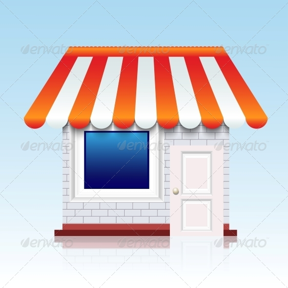 Vector Shop Icon Background. Eps10 - Retail Commercial / Shopping