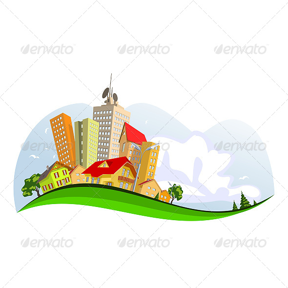 Abstract Vector City - Buildings Objects