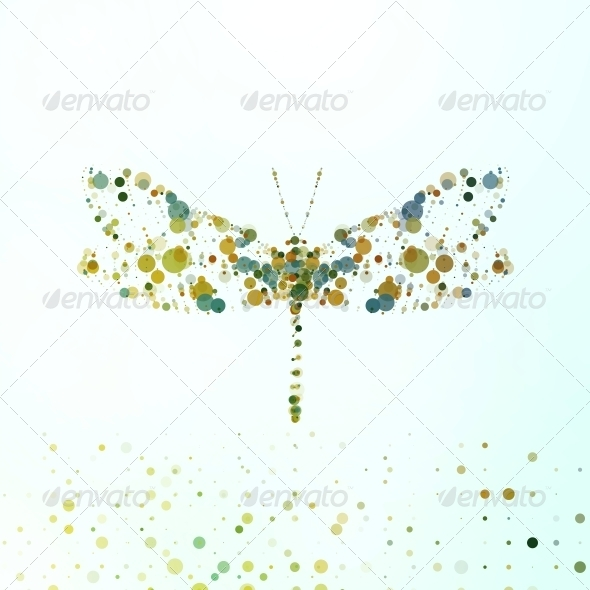 Abstract Dragonfly - Abstract Illustrations
