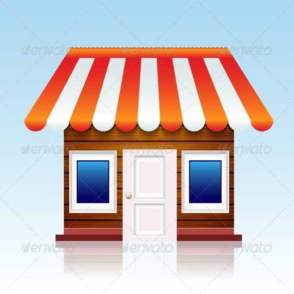 Vector Shop Icon Background - Retail Commercial / Shopping