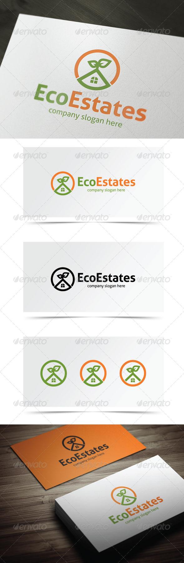 Eco Estates - Buildings Logo Templates
