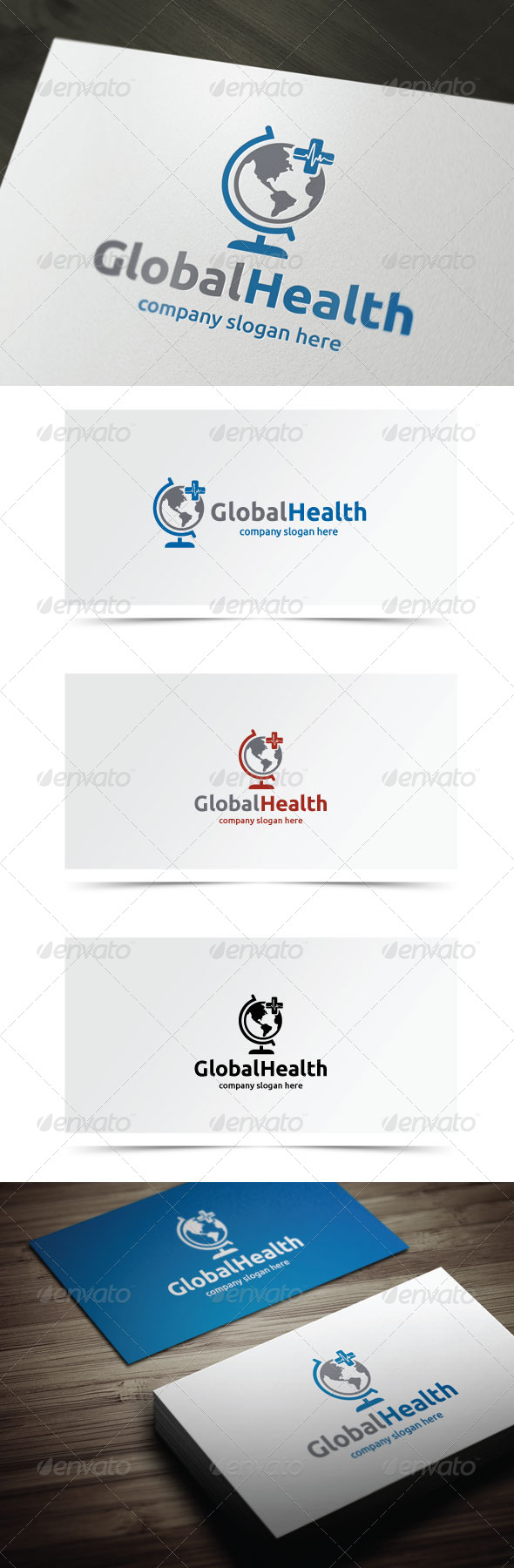 Global Health - Objects Logo Templates