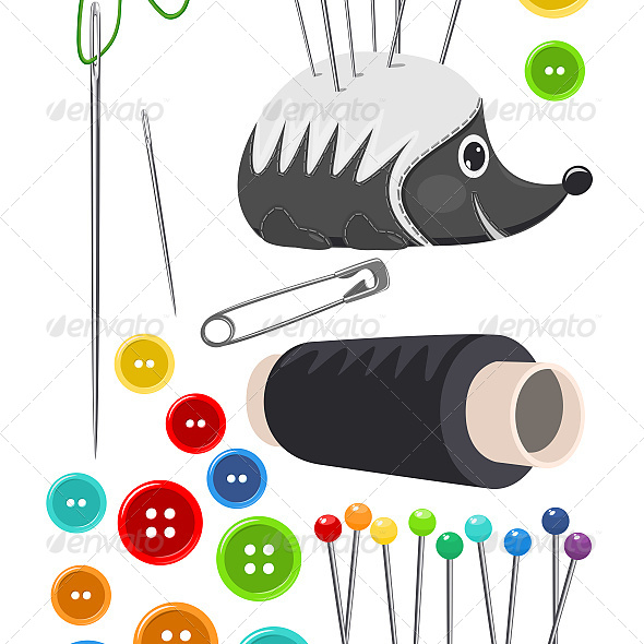 Sewing Accessories Isolated on White - Industries Business
