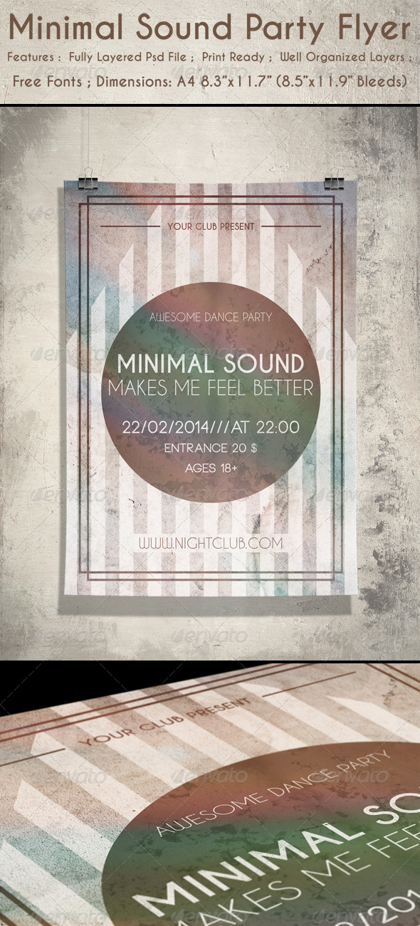 Minimal Sound Party Flyer - Clubs & Parties Events