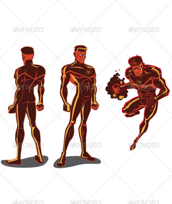 Atom Man - People Characters