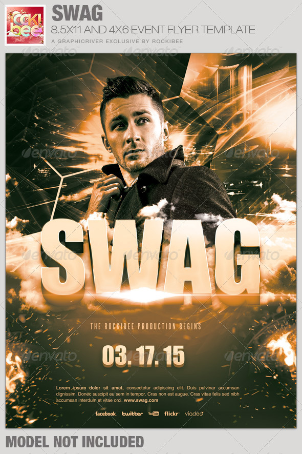 Swag Event Flyer Template - Events Flyers