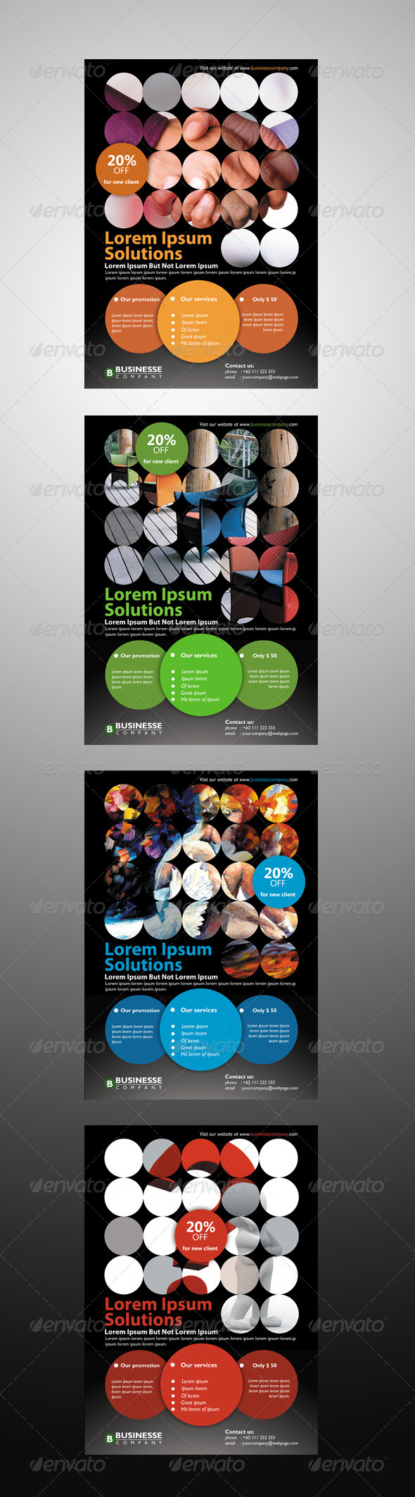 Circles Corporate Flyer - Corporate Flyers
