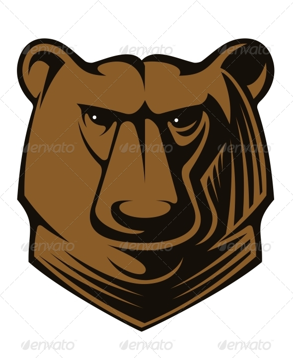 Big Brown Bear Head - Animals Characters