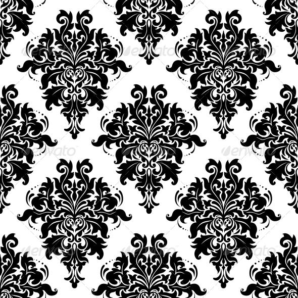 Intricate Foliate Arabesque Seamless Pattern - Patterns Decorative