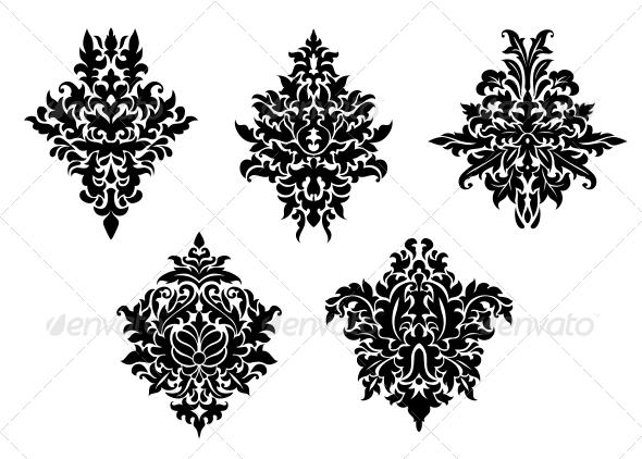 Set of Foliate Arabesques - Patterns Decorative