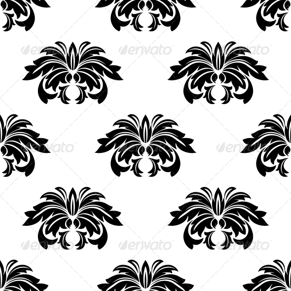 Repeat Seamless Pattern of Arabesques - Patterns Decorative