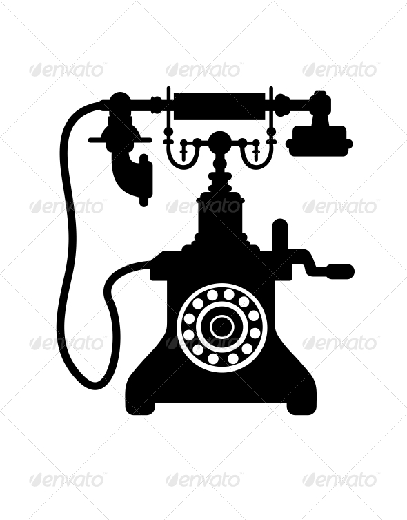 Old Vintage Telephone - Retro Technology