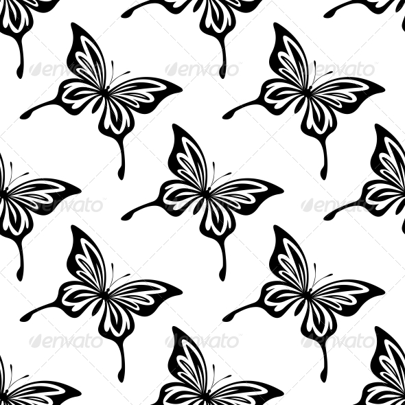 Seamless Pattern of Butterflies - Patterns Decorative