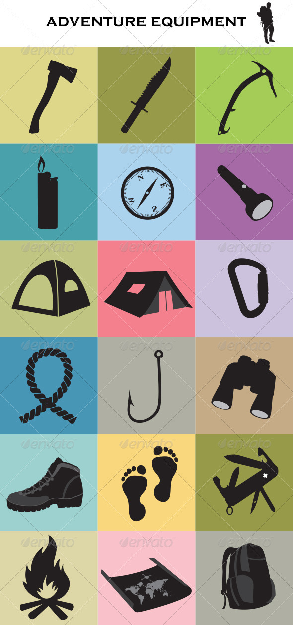 Adventure Equipment - Objects Vectors