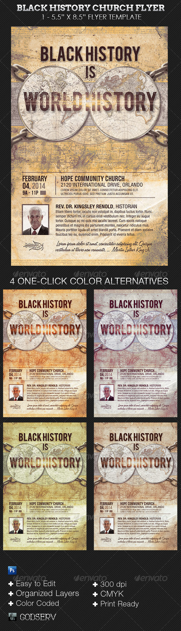 Black History Church Flyer Template - Church Flyers