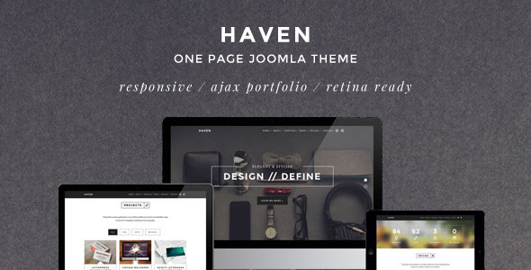 Haven – Elegant One Page Joomla Template