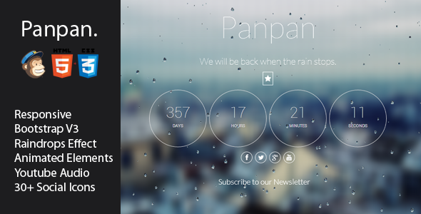 Panpan - Responsive Coming Soon Template - Under Construction Specialty Pages
