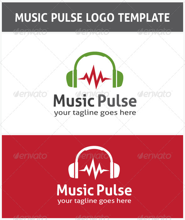 Music Pulse Logo - Symbols Logo Templates