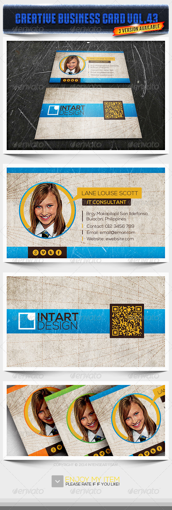 IntenseArtisan Business Card Vol.43 - Creative Business Cards