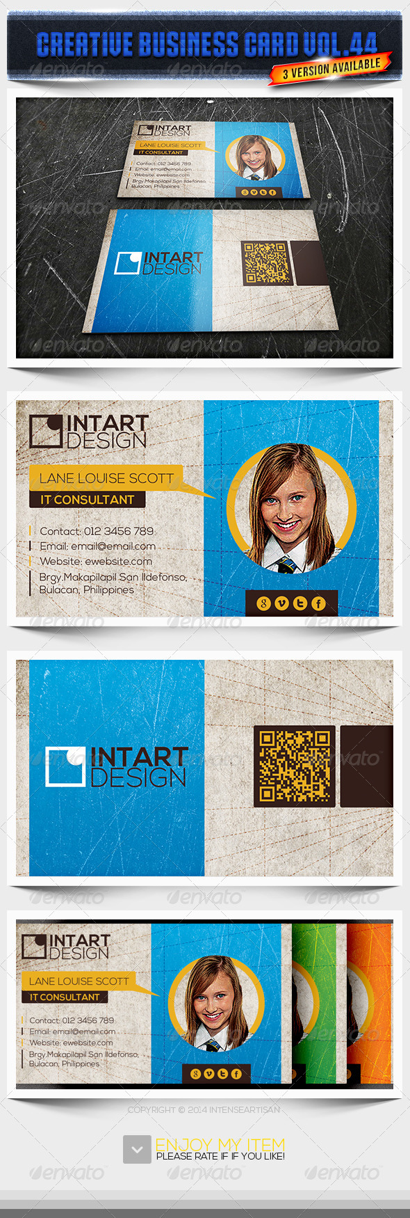 IntenseArtisan Business Card Vol.44 - Creative Business Cards