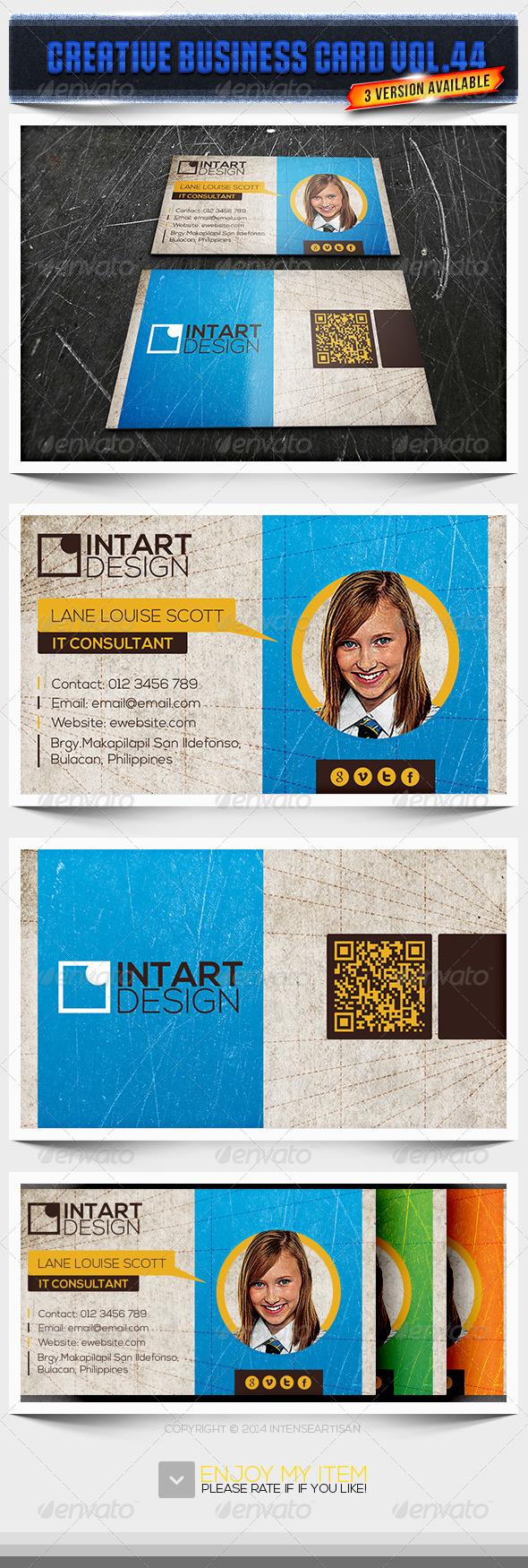 IntenseArtisan Business Card Vol.44 - Creative Business Cards