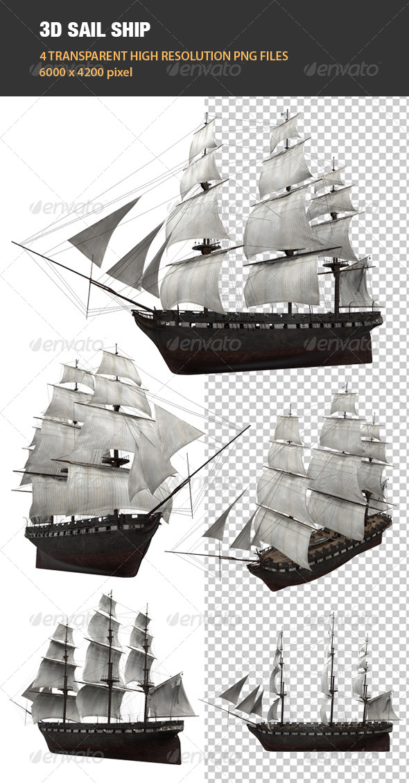 3D Sail Ship - Objects 3D Renders