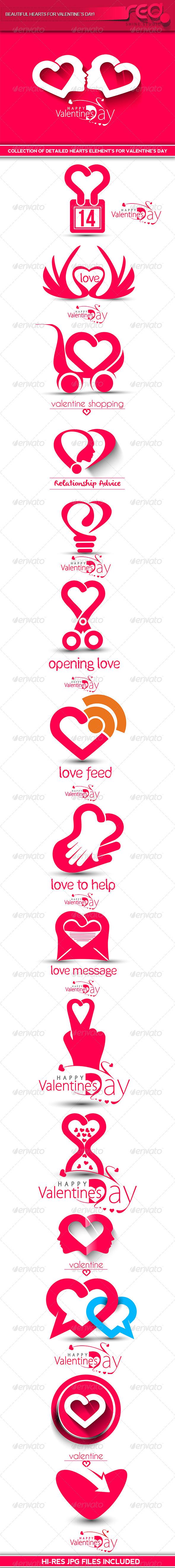 Valentine's Day Heart Design - Valentines Seasons/Holidays