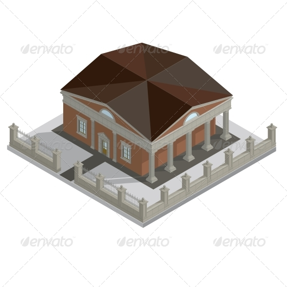 Vector Isometric House - Buildings Objects