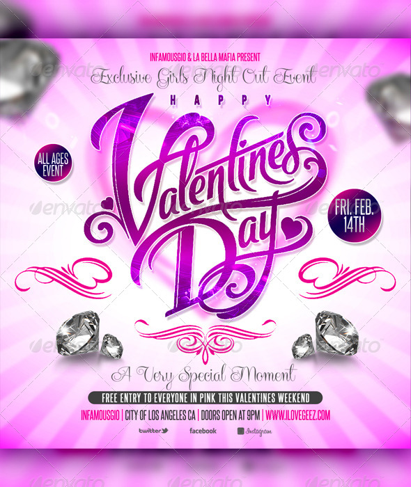 Valentines Day 10 - Flyers Print Templates