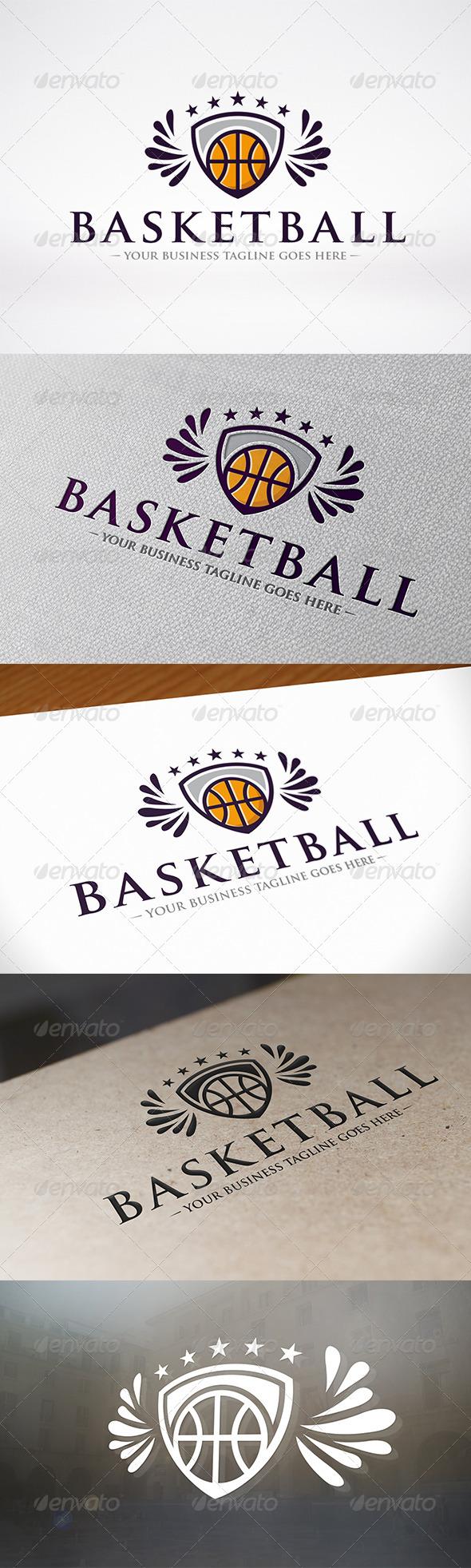 Basketball Logo Template - Crests Logo Templates