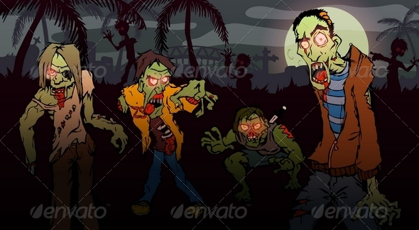 Zombie Walk - Monsters Characters