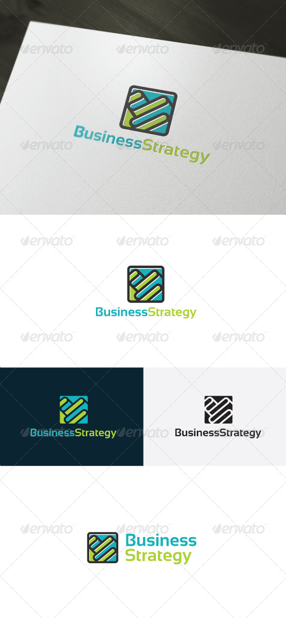 Business Strategy Logo - Vector Abstract