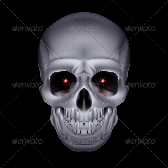 Chrome Mystic Skull. - Miscellaneous Vectors