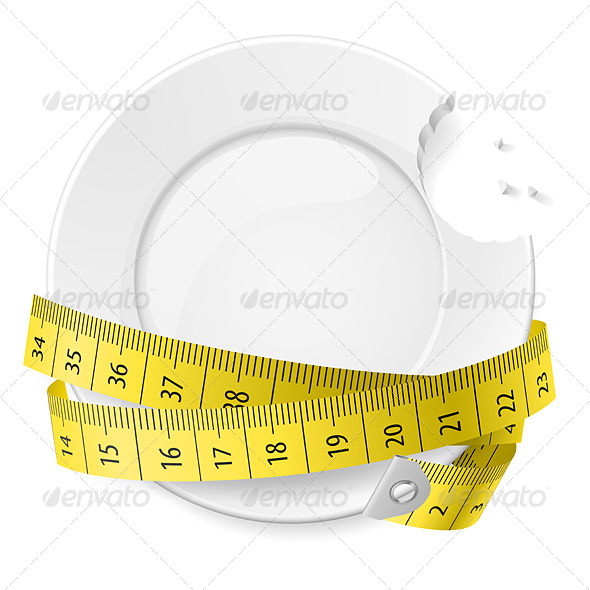 Diet Concept. - Conceptual Vectors