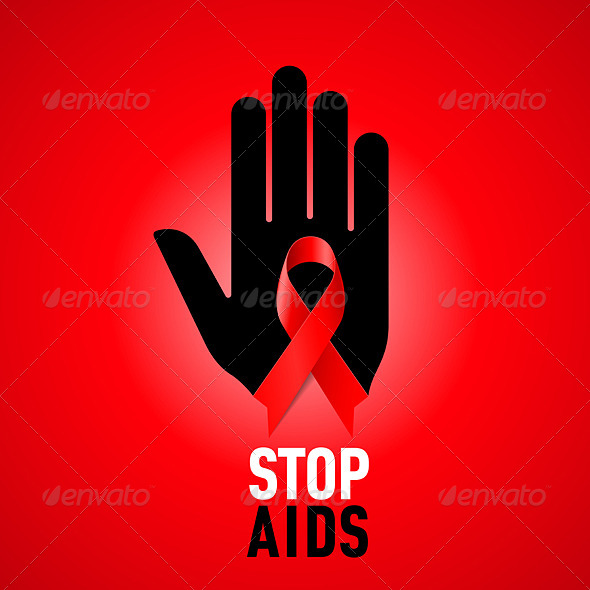 Stop AIDS Sign. - Man-made Objects Objects
